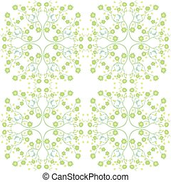 Seamless birds and flowers pattern