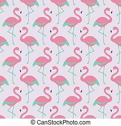 seamless birds pattern