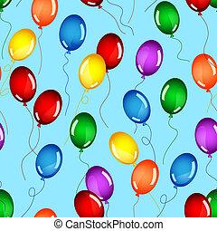 Seamless birthday balloons