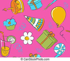 Seamless birthday doodle