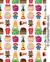 seamless birthday pattern