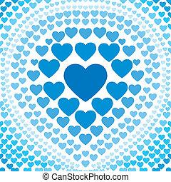 seamless, blå, hjärta, abstrakt, backgr
