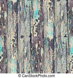 seamless, blå, struktur, gammal, ved, med, sprickor