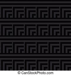 Seamless Black Abstract Modern Square Pattern