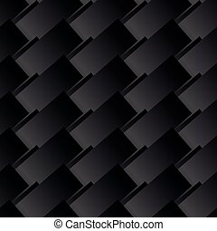 Seamless Black Abstract Pattern from Rectangle Intersections