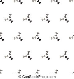 Seamless Black and White Abstract Pattern from Repetitive Concentric Arcs