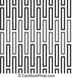 Seamless Black and White Abstract Pattern from Rectangles