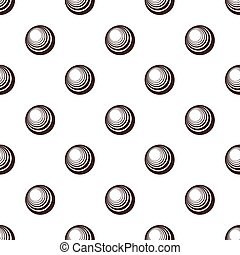 Seamless black and white abstract retro pattern with polka dots