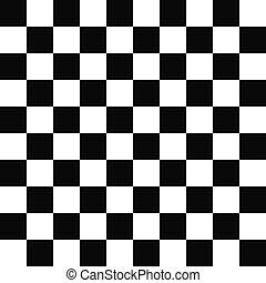 Seamless black and white checkered pattern - Seamless black...