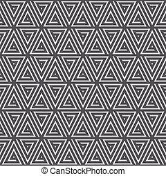 Seamless black and white geometric pattern - Seamless...