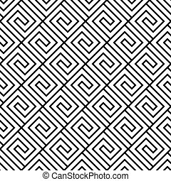 Seamless black and white geometric vector pattern.