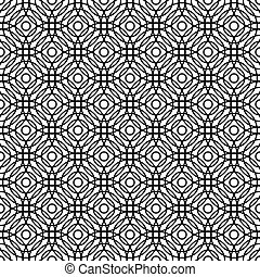 Seamless black and white grid pattern