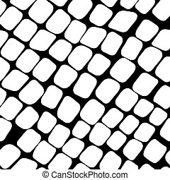 Seamless black and white pattern with paving stone -...