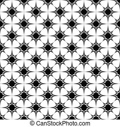 Seamless black and white star pattern
