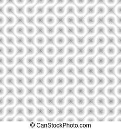 Seamless Black and White Tangled Round Stripes. Textured Geometric Pattern.