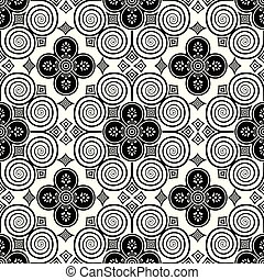 Seamless black and white traditional indian damask wallpaper