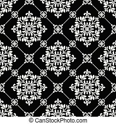 Seamless black and white wallpaper pattern