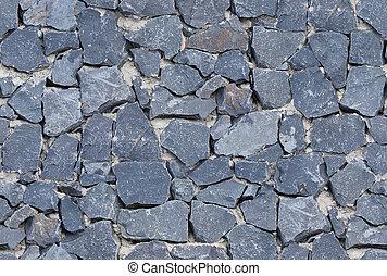seamless black ashlar old stone wall texture background