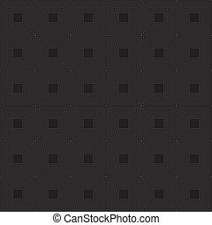 Seamless black background with hypnotic white squares
