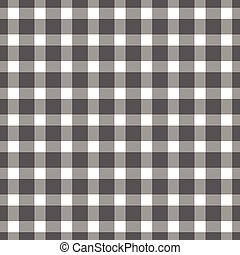 Seamless black colored checkered table cloth background