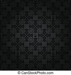 Seamless black elements pattern