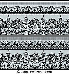 Seamless Black Lace Pattern.