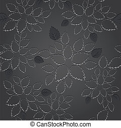 Seamless black leaf lace wallpaper