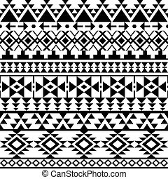 Seamless black Navajo pattern