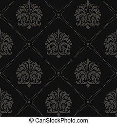 Seamless black old style pattern