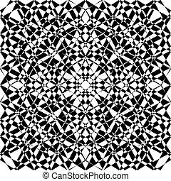 Seamless black on transparent background arabesque 2