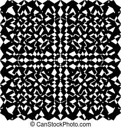 Seamless black on transparent background arabesque