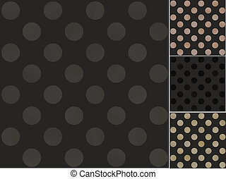 seamless black polka dots pattern