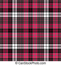 Seamless black-red-white checkered pattern