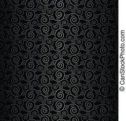 Seamless black swirly background