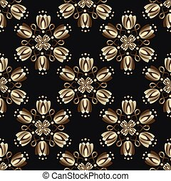 Seamless black vintage pattern
