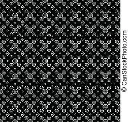 Seamless black wallpaper of paisley