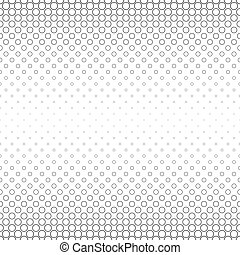 Seamless black white abstract circle pattern