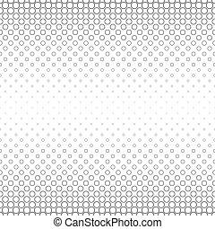 Seamless black white abstract circle pattern