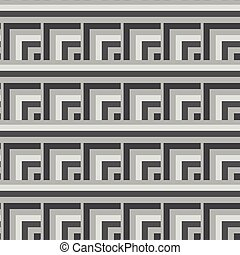 Seamless Black, White Abstract Modern Square Pattern