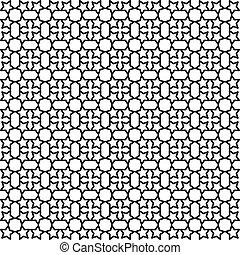 seamless black white background - Vector seamless black...