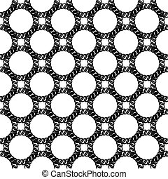 Seamless Black White Chain Pattern
