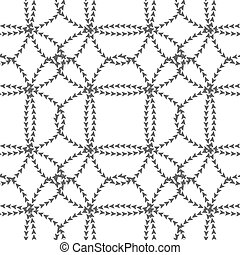 Seamless black  white pattern