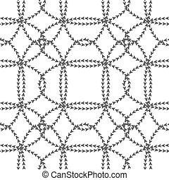 Seamless black white pattern