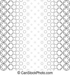 Seamless black white vector circle pattern design