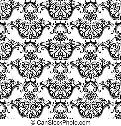 Seamless black & white wallpaper