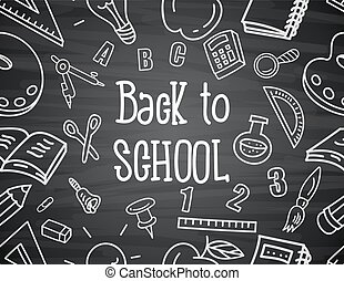 Seamless blackboard background