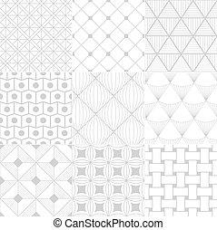 seamless, blanco, retro, patrón