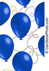 seamless, blauwe ballon, achtergrond
