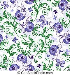 seamless, blom- mönstra