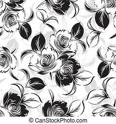 seamless, blommig, bakgrund